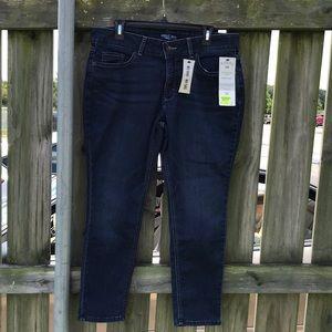 NWT Riders Lee Mid Skinny Bounce Back Denim Jeans